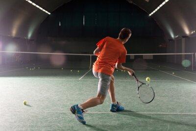 Image Jeune, tennis, joueur, botter, bal