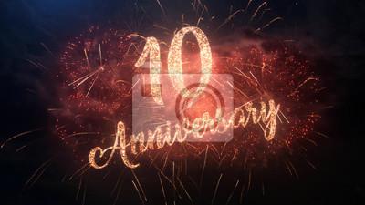 Joyeux Anniversaire Anniversaire 10 Ans De Fete De Texte De