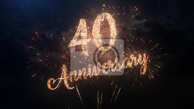 Joyeux Anniversaire Anniversaire 40 Ans Fetant Le Texte De
