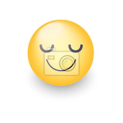 Image Joyeux Dessin Animé Visage Emoji Aux Yeux Fermés émoticône Jaune