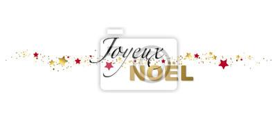 Joyeux noël banniere peintures murales • tableaux carte de Noël, Joyeux Noël,  bandeau | myloview.fr