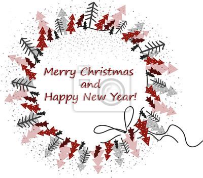 Bonne Annee Joyeux Noel.Image Joyeux Noel Et Bonne Annee Illustration Vectorielle