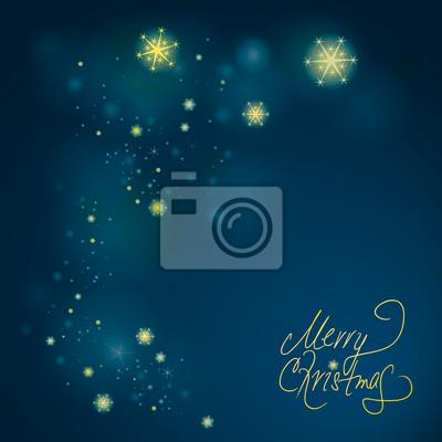 Joyeux Noël / fond de ciel nocturne avec les étoiles