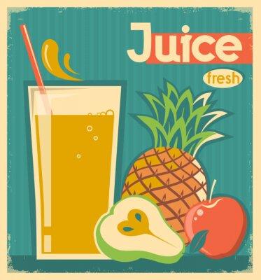 Image Jus de fruits frais.Vector carte vintage