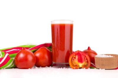Jus de tomate de tomates fraîches