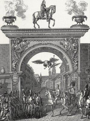 Image Kaiser Franz I. zieht in Wien ein im Juni 1814, Kupferstichvorlage