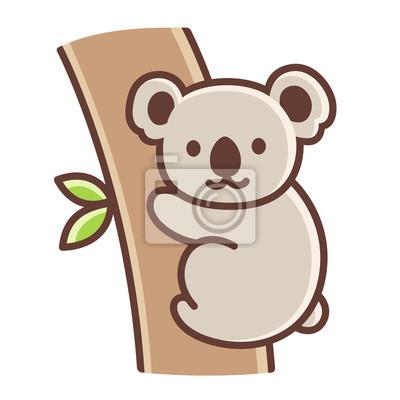 Koala De Dessin Anime Mignon Peintures Murales Tableaux Eucalyptus