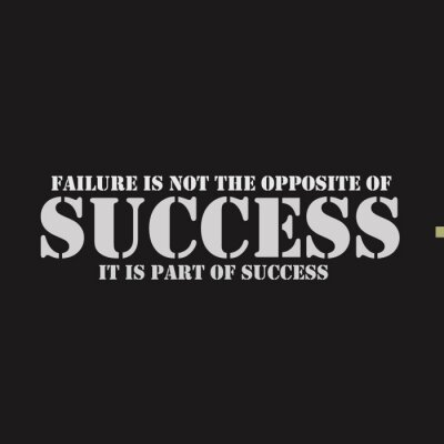 Image L'échec n'est pas l'opposé du succès. Cela fait partie du succès.