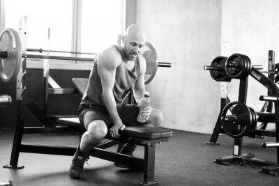 Image L'homme à la salle de gym