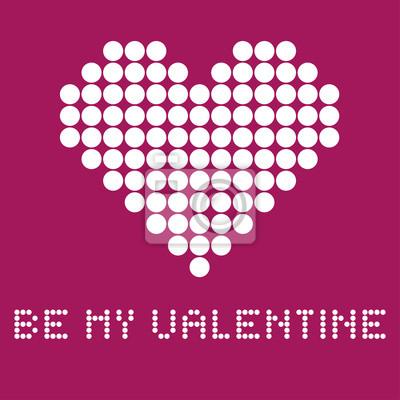 La carte-cadeau pour une Saint Valentin dans le style pointillé, vecteur