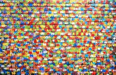 Image La couleur de fond de la rue des graffitis sur un mur de briques