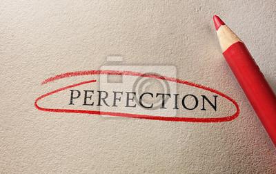 Image La perfection encerclée en rouge