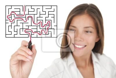 la résolution d'affaires problème de labyrinthe