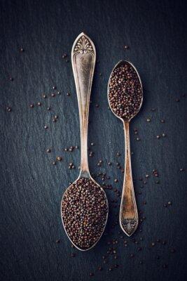 Image La vie toujours simple avec des graines de moutarde noire