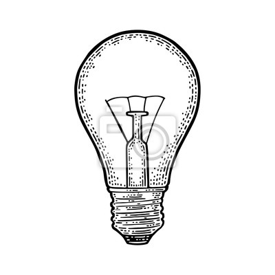 Lampe Incandescente A Lumiere Incandescente Gravure Vintage