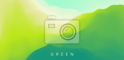 Image Landscape with green mountains. Mountainous terrain. Abstract nature background. Vector illustration.
