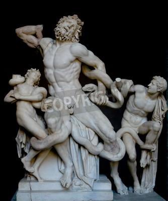Image Laocoon et ses fils, célèbre statue grecque classique