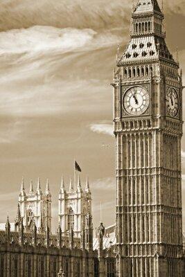 Image Le Big Ben, la Chambre du Parlement et le pont de Westminster
