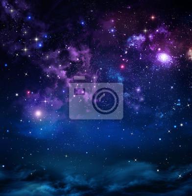 le ciel étoilé de l'espace profond