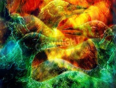 Image Le collage d'oiseaux phénix