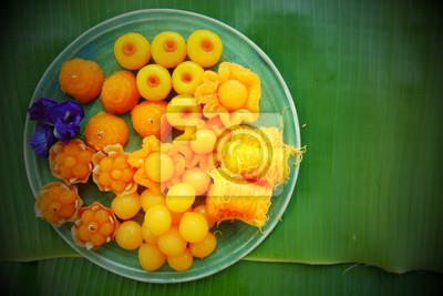Le dessert thaïlandais a une bonne signification à propos riches ou riches.