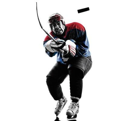 Image Le hockey sur glace lecteur homme silhouette