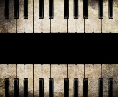 Image le piano cru isolé