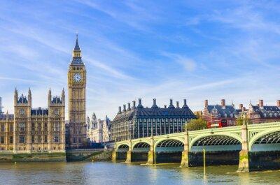 Image Le pont de Westminster, Houses of Parliament et la rivière Thames, Royaume-Uni