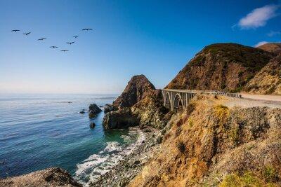 Image Le pont - viaduc le long de la côte Pacifique