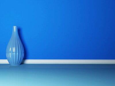 Image Le vase bleu dans la chambre bleue