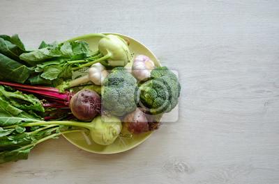 Légumes sur la plaque