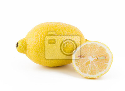 lemon slice on a white background