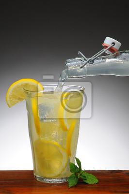 Lemonade Pouring from Bottle