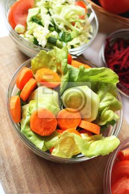 les carottes et les concombres salade