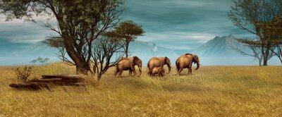 Image Les éléphants africains, 3d CG