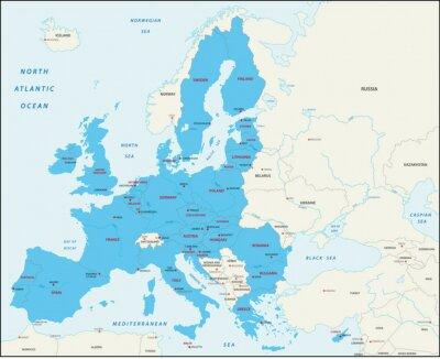 Image Les Etats membres de l'Union européenne carte