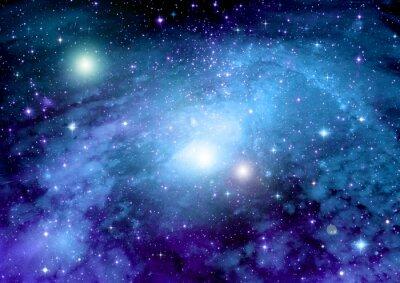 Image Les étoiles, la poussière et la nébuleuse de gaz