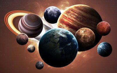 Image Les images à haute résolution présentent les planètes du système solaire. Cette image est fournie par la NASA