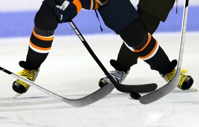 Image Les joueurs de hockey sur glace sur la patinoire