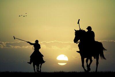 Image les joueurs de polo sur les chevaux