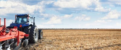 Image Les machines agricoles travaillent sur le terrain