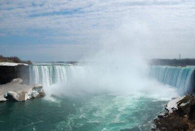 Image Les spectaculaires chutes du Niagara en hiver.