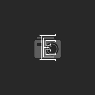 Image Lettre E Logo Style Monogramme Mariage Ou Carte De Visite Simple Maquette