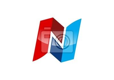 Lettre n logo, abstrait lettre r, la construction, la lettre ...
