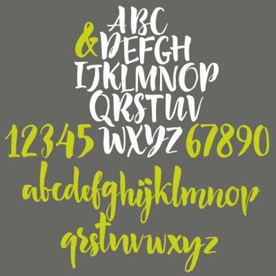 Image lettres de l'alphabet: minuscules, majuscules et chiffres.