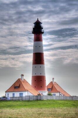 Image Leuchtturm Westerheversand dans Westerhever