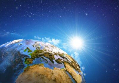 Image Lever de soleil sur la Terre