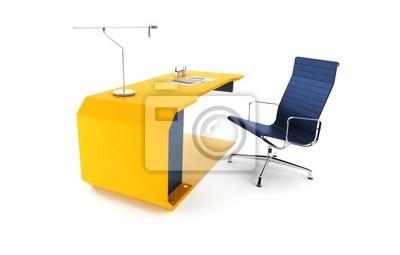 Image: Lieu de travail moderne dans le bureau