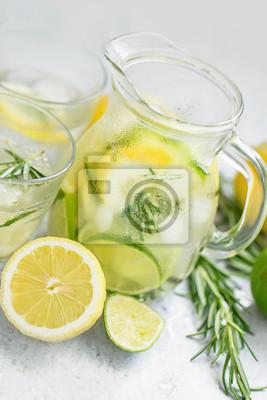 Lime, lemon and rosemary fresh lemonade
