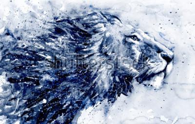 Image Lion 3 black&white